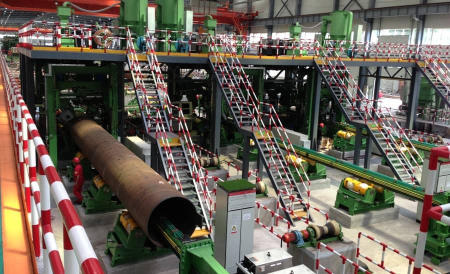 کارخانه تولید لوله جوشی درز دار