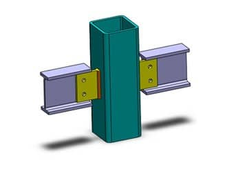 انواع اتصالات تیر به ستون در سازههای فلزی