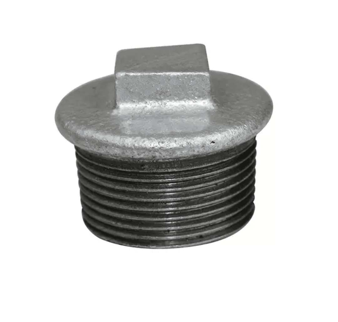 نمونهای از یک درپوش لوله انواع اتصالات در صنعت